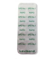 Lovibond DPD1 Rapid Chlore Libre à partir de 10 pastilles pour comparateur