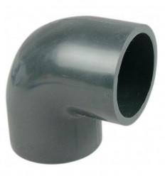 Coude 90° femelle à coller femelle PN16 diamètre 32,50,63,75 mm PVC piscine