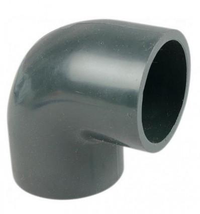 Coude PVC 90° Pression à coller Piscine PN16 EAU2
