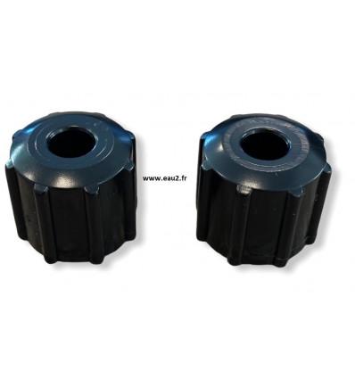 Lot 2 écrous pour Tube pompe Regulateur Hydro Syclope EAU2