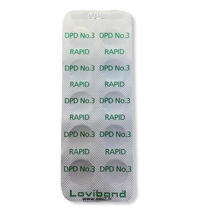 Verso Lovibond DPD3 Rapid lot 10 pastilles Chlore Total pour comparateur EAU2