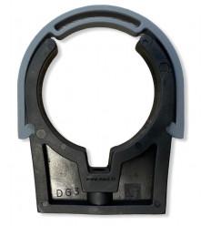 Collier de fixation en PVC avec clip de serrage diamètre 50, 63 mm