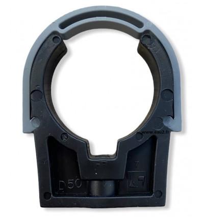 Collier de fixation en PVC avec clip de serrage diamètre 50 mm EAU2