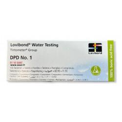 Pastilles DPD1 Lovibond détermination Chlore Libre pour photomètre EAU2