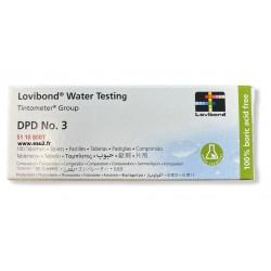Pastilles DPD3 Lovibond détermination du Chlore Total pour photomètre