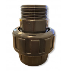 Raccord Union 3 pièces à coller/Mâle à visser PN16 différents diamètres