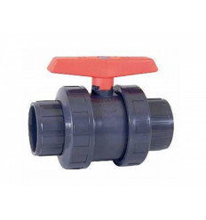 Vanne à boisseau à coller PN10 diamètre 50,63 mm PVC Piscine
