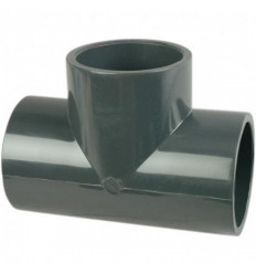 Té 90° femelle à coller PN16 diamètre 50,63 mm PVC piscine